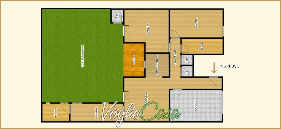 San Jacopino – 4,5 Vani con giardino e garage